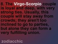 Virgo and Scorpio by Zodiac Chic
