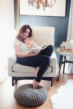 Cozy bedroom reading