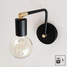 This modern swivel wall lamp will make people talk. It has a swivel head, so no . Luminaire Mural, Zen House, Open Bathroom, Inexpensive Furniture, Bedside Lamp, Bedroom Lighting, Home Decor Bedroom, Bathroom Inspiration, Bedroom Decor