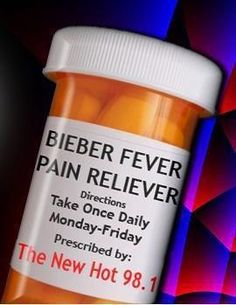 bieber fever! This is no cure, but listen to his music and you will relieve the pain