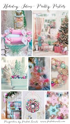 Christmas Inspiration- Pretty Pastels for the Perfect Holiday www.frostedevents.com