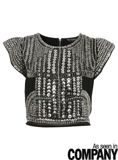Crop Studded Tee        Price: $85.00      Color: BLACK      Item code: 15M03KBLK