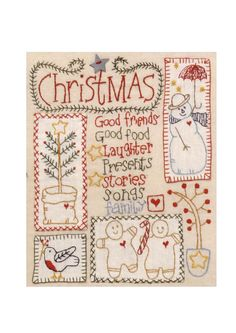 free christmas embroidery pattern
