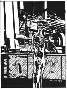 X-51, Machine Man commission by John Paul Leon, 2005