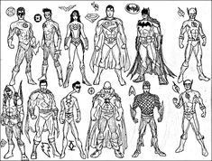 Free Justice League Printable Coloring Page | Superheroes Coloring ...