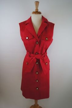 Milly Red Trench Dress