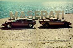 1976 poster for the Maserati Bora and Merak