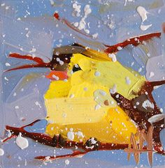 Goldfinch no. 29 original bird oil painting by  by prattcreekart