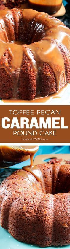 Toffee Pecan Caramel Pound Cake ♛BOUTIQUE CHIC♛