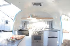 Airstream Renovation Interior Kitchen