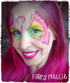Butterfly fairy face paint
