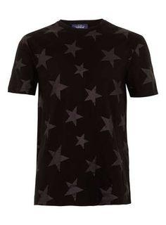 BLACK FOIL STARS T-SHIRT