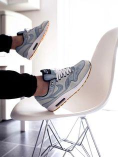 separation shoes 58cba df7f0 Nike ID Air Max 1 Bleached Denim (by gerrithamm) Buy Sneakers, Denim  Sneakers