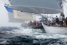 Photo: Lionheart leads Velsheda and lastly Ranger on a downwind leg (looks great blown up) at the J Class Falmouth 2012 © Emily Harris Photography Best Yachts, Classic Yachts, Wooden Boats, Modern Classic, Ranger, Sailing, Old Things, Falmouth, Photography