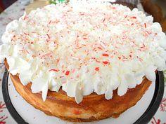 White Chocolate Candy Cane Cheesecake