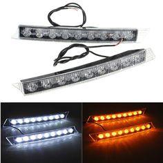 #BangGood - #Eachine1 9LED Daytime Running Driving White DRL Turn Signal LED Lights - AdoreWe.com