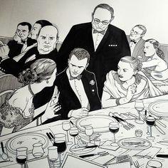 Jared Muralt, Hitchcock Party Sketch