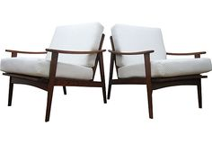$1099     Italian Teak Chairs, Pair on OneKingsLane.com