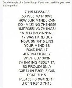 CAN YOU READ THIS ? I CAN READ THIS!!! I LOVE THISSSSSSS OR I SHOULD SAY 1 c4n r34d 7h15