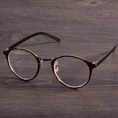 4 Colors Stylish New Personality Practical Decoration Retro Round Lens Plano Optical Glasses
