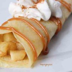 Kuchen Low Ca Apple Pie Crepes – Weight Watchers Freestyle Weight Watchers Apple Recipes, Weight Watchers Desserts, Ww Recipes, Cooking Recipes, Recipies, Ww Desserts, Healthy Desserts, Dessert Recipes, Apple Crepes