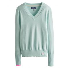 Joules Tatum Ladies V Neck Jumper (S) - £35.95 www.countryhouseoutdoor.co.uk - Crafted from cotton blend and cashmere, our versatile V-neck is back. With an improved fit, wider V and a longer line this machine washable, fine gauge favourite is a welcome addition to any wardrobe. Team with one of our fitted shirts for a fresh new look. Did you spot the contrast cuff?