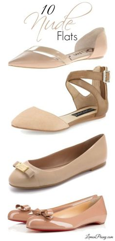 Nude Flats for Spring and Summer! The best shoes to wear to the office or everyday!