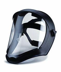 Uvex S8510 Bionic Shield, Black Matte Face Shield, Clear Polycarbonate Anti-Fog/Hardcoat Lens.
