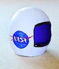 Astronaut Paper Mache Helmet Craft | My Pretend Place
