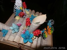 Book folding origami quilling