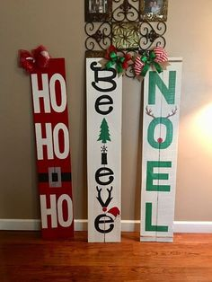 48 Best Inspiring DIY Christmas Wood Signs Design Ideas - Gifts and Costume Ideas for 2020 , Christmas Celebration Christmas Wood Crafts, Christmas Signs Wood, Holiday Signs, Outdoor Christmas Decorations, Holiday Crafts, Christmas Time, Halloween Wood Signs, Rustic Christmas, Christmas Front Porches