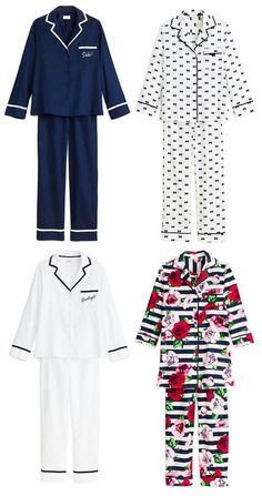 We Absolutely Adore Kate Spade New York's First-Ever Sleepwear Collection Kate Spade's new sleepwear collection is the stuff of dreams—shop Cute Sleepwear, Sleepwear & Loungewear, Nightwear, Sleepwear Women, Lingerie Sleepwear, Pijama Satin, Pijamas Women, Night Suit, Pajama Outfits