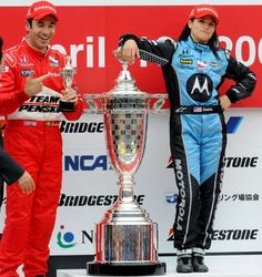 April 20,  2008: DANICA PATRICK BECOMES FIRST WOMAN TO WIN INDY RACE  -  26-year-old Danica Patrick wins the Indy Japan 300 at Twin Ring Montegi in Montegi, Japan, making her the first female winner in IndyCar racing history.