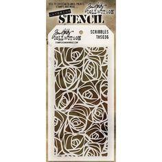 Plantilla de stencil diseñada por Tim Holtz
