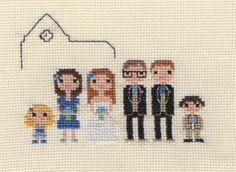 Custom Large Wedding Party Pixel Cross Stitch by ScarletPyjamas