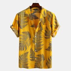 ChArmkpR Mens Funny Hit Color Printed Turn Down Collar Short Sleeve Loose Shirts Best Online - NewChic Mobile Mens Shirts Sale, Cheap Mens Shirts, Mens Designer Shirts, Mens Printed Shirts, Men Shirts, Site Mode, Graphic T Shirts, Loose Shirts, Mode Streetwear