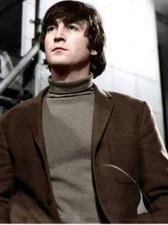 John Lennon, colorized photo