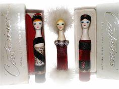 «Couturine» doll lipsticks by Revlon – 1961/1963 Staring in…. Shirley Mc Laine, Marilyn Monroe, Bette Davis