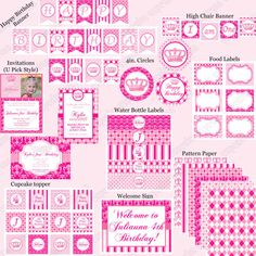 DIY Preppy Couture Birthday Collection PRINTABLE by CupcakeExpress, $35.00