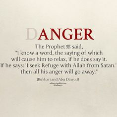 I seek refuge with Allah from Satan. I seek a peace with which I can control my anger and redirect it into patience. Allah, I pray you guide me to this. Prophet Muhammad Quotes, Hadith Quotes, Ali Quotes, Muslim Quotes, Quran Quotes, Religious Quotes, Qoutes, Famous Quotes, Islam Hadith