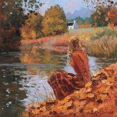 Roelof Rossouw Autumn Solitude Fantasy Landscape, Fantasy Art, Phoenix Art Museum, Toledo Museum Of Art, Disney Fine Art, Disney Artists, National Art, Popular Art, Animation Background
