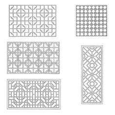 Chinese Lattice Designs1 by neefer, via Flickr