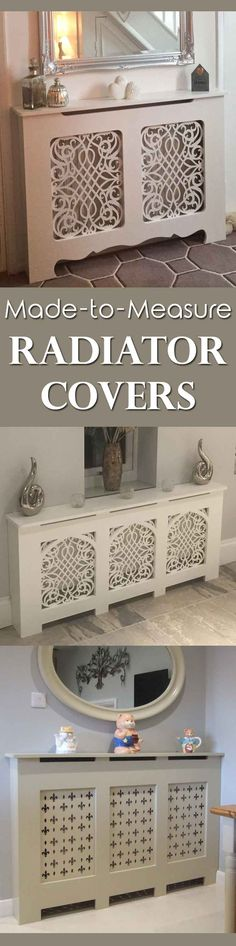 Custom Made, Bespoke and Made-to-Measure Radiator covers. Hand made by a small family business. Lovely radiator cabinet designs.