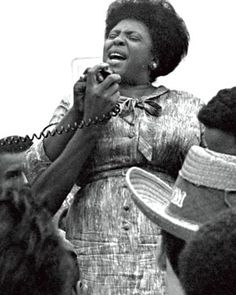 """I guess if I'd had any sense, I'd have been a little scared – but what was the point of being scared? The only thing they could do was kill me, and it kinda seemed like they'd been trying to do that a little bit at a time since I could remember.""  - Spoken by Fannie Lou Hamer, a civil rights and voting rights leader, on why she put her life in danger when she volunteered to register to vote. She later became a key organizer in the Mississippi Freedom Summer 1964."