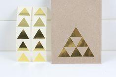 10 Auflkeber - Dreieck - gold von MoinMoni auf DaWanda.com