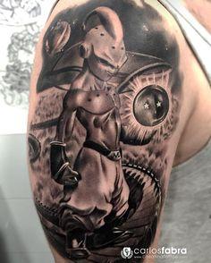 Majin Boo Dragon Ball Z tenía muchísimas ganas de hacer este Tattoo. Para mí y creo que para muchos de los que nacimos a mediados o finales de los 80 Dragon Ball fue y es la fuente de nuestra afición por el dibujo. Por eso para mí ha sido tan gratificante realizar este trabajo. Y aún más si se hace para conmemorar la pérdida de un ser querido que era un verdadero amante de la serie. Muchas gracias Albert y espero que a Juanan le guste tu homenaje allá donde esté