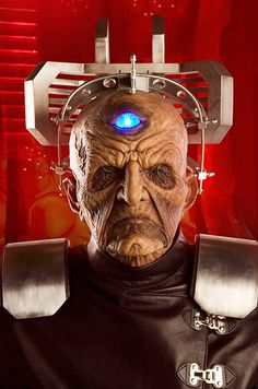 Davros is the mad scientist, ancient, cyborg creator of the Daleks, robots out to control the universe, and exterminate anyone in their path.