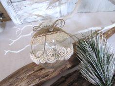 Christmas glass ornament ball ornament Handmade di Mydaisy2000