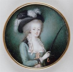 "vivelareine: "" A miniature of Marie Antoinette in a riding outfit by an unknown artist, 1783. [credit: © RMN-Grand Palais (musée du Louvre) / Droits réservés] """