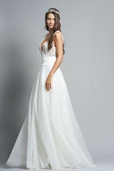 Robe de mariée Grenade - www.fabiennealagama.com #fabiennealagama#collection2018#robedemariee
